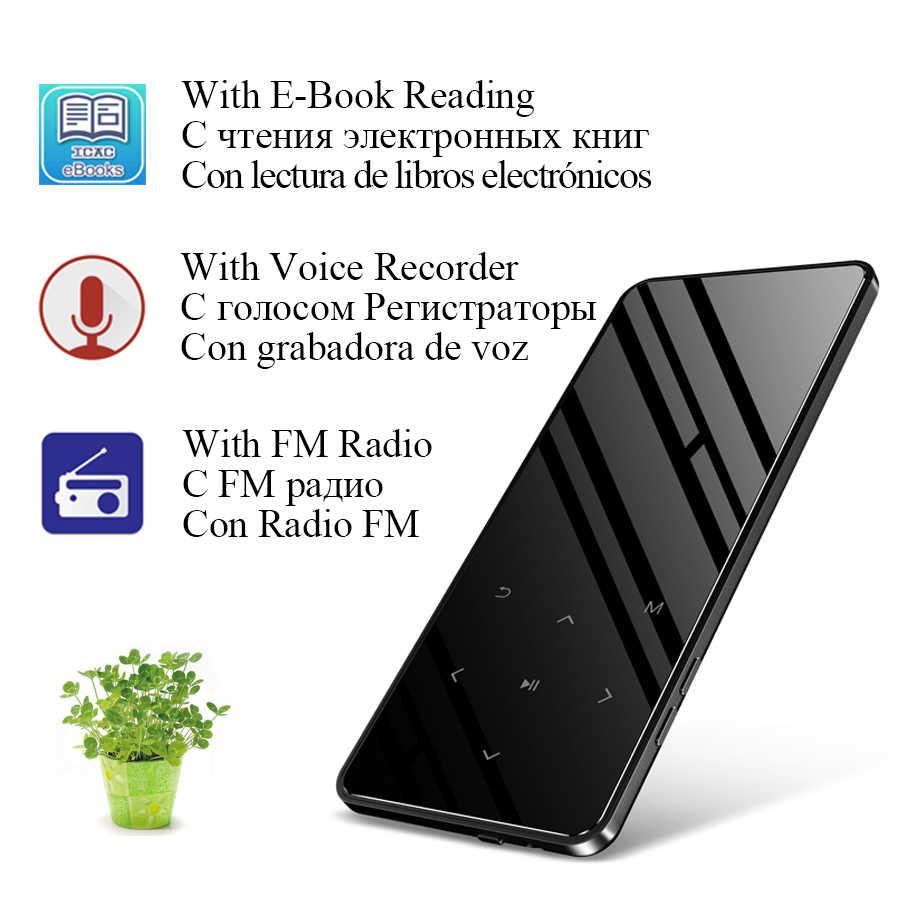 MP3 odtwarzacz bluetooth mini usb sport muzyka przenośny odtwarzacz flac hifi odtwarzacz mp 3 32gb z głośnikiem klawisze dotykowe tf radio FM audio