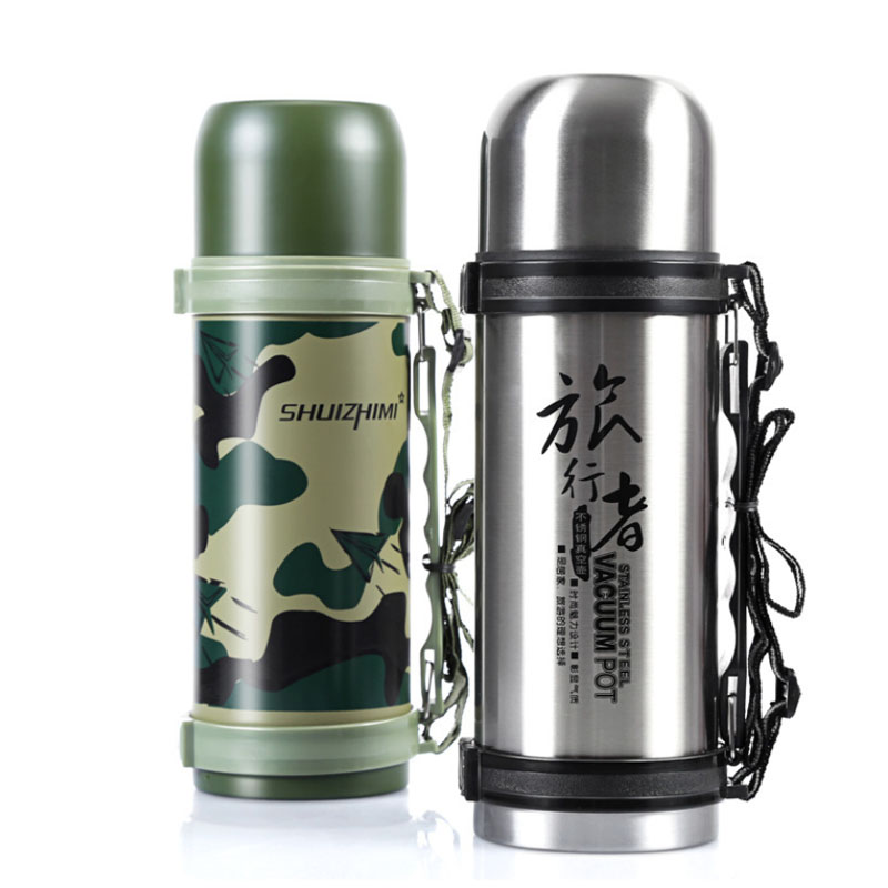 1200ml Outdoor Stainless Steel Water Thermos Bottle Insulation Tea - Kitchen, Dining and Bar - Photo 3