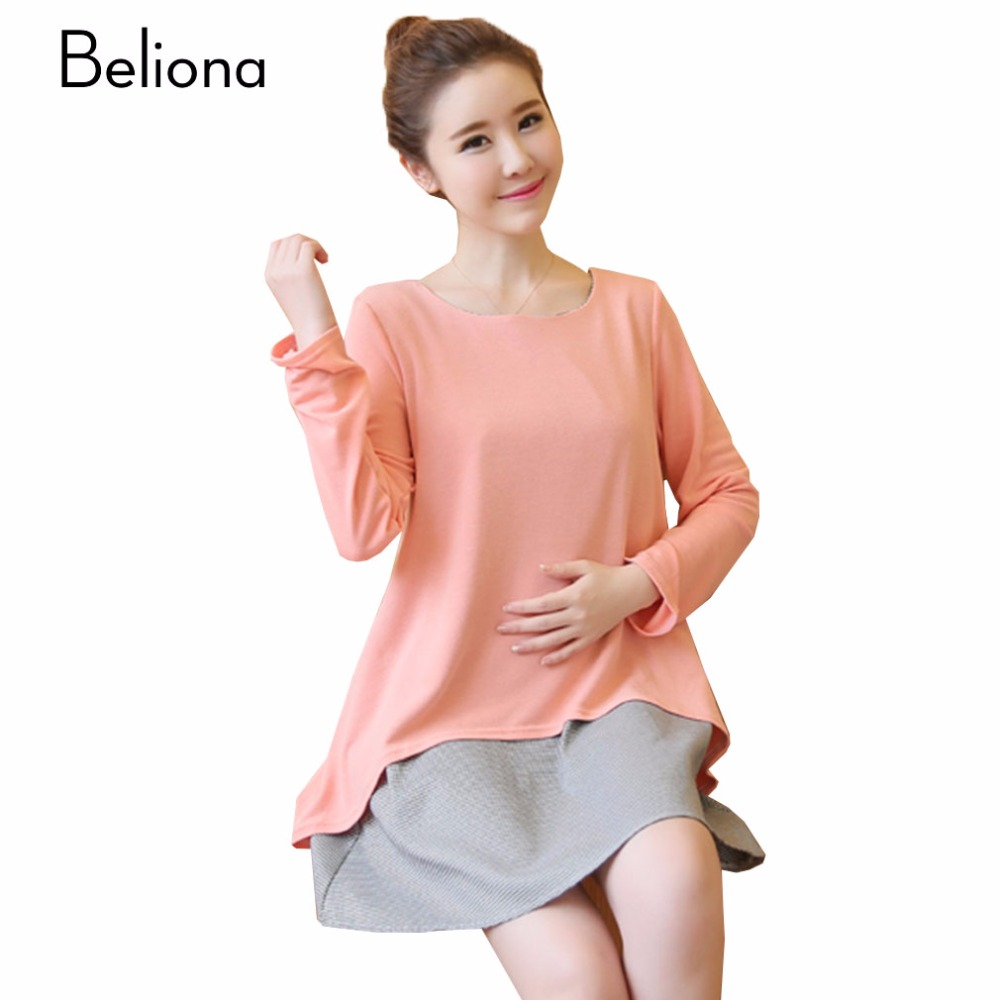 Online get cheap spring maternity dress aliexpress alibaba fall spring maternity dress dresses for pregnant women false two pieces pregnant dress maternity clothes ropa ombrellifo Gallery
