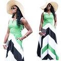 2017New Women Summer Dress Sleeveless Cotton Short Plaid Striped Party Gowns Pinup  Big Swing Dress