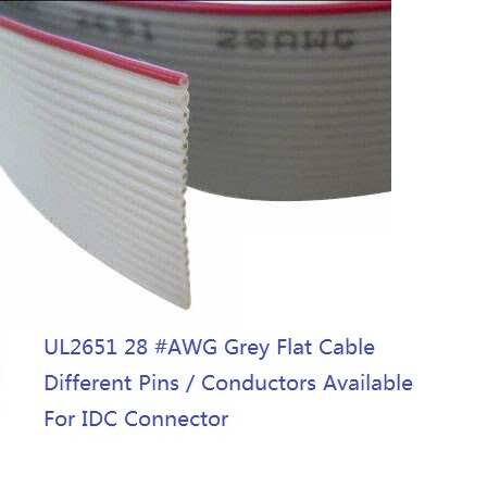 76 5 meter 1 27 mm UL2651 Grey Flexible Flat Cable 6 Way 8 9 10