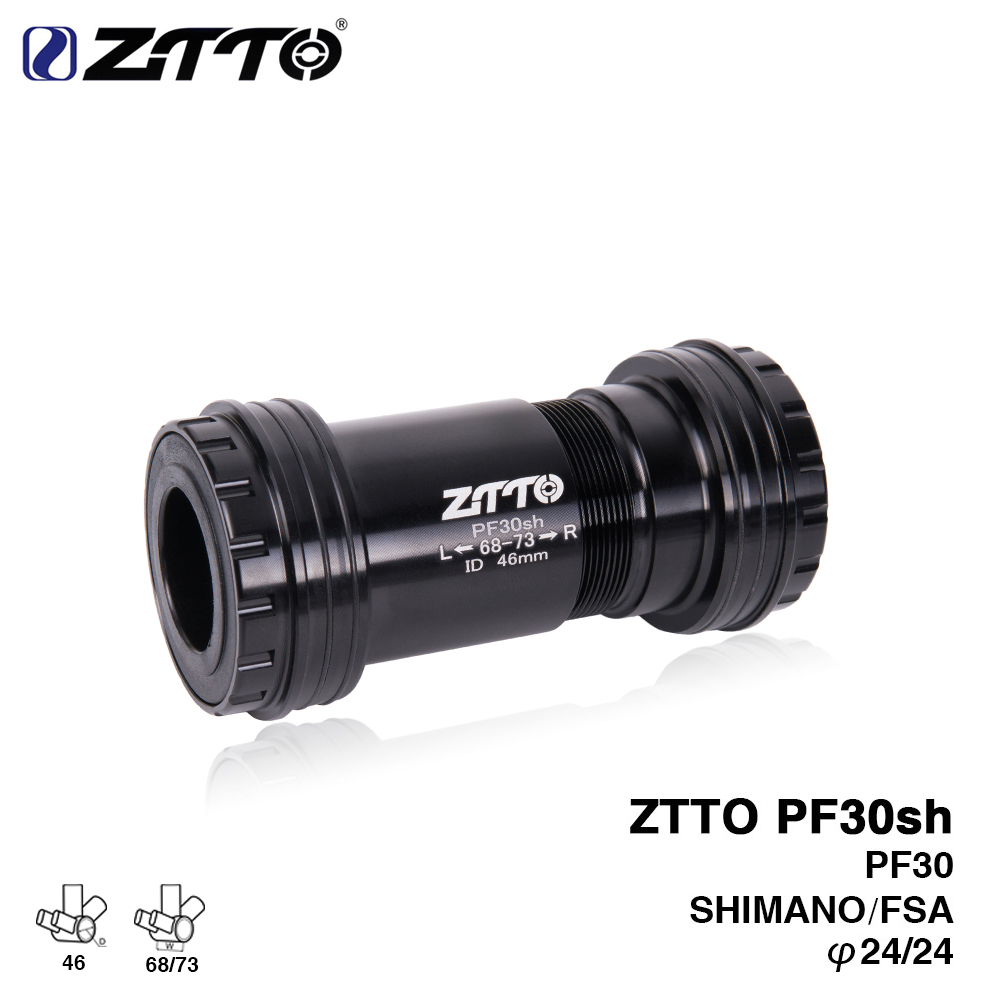 ZTTO PF30sh PF30 24 Adapter bicycle Press Fit Bottom Brackets Axle for MTB Road bike Shimano Prowheel 24mm Crankset chainset sitemap 305 xml