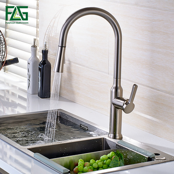 Newest Pull out Spray Kitchen Faucet Mixer Tap Chrome Finishing Single Hand Kitchen Tap Mixer Brass Faucet donyummyjo factory direct sale modern solid brass pull out spray chrome brass kitchen faucet mixer tap single handle two spouts