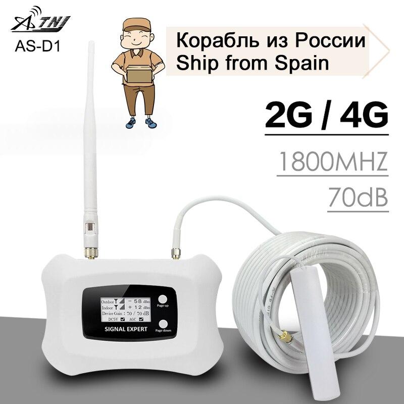 ATNJ DCS LTE 1800 Mhz amplificateur de Signal voix 2G 4G Signal Internet 70dB Gain Kit d'antenne répéteur de Signal de téléphone portable