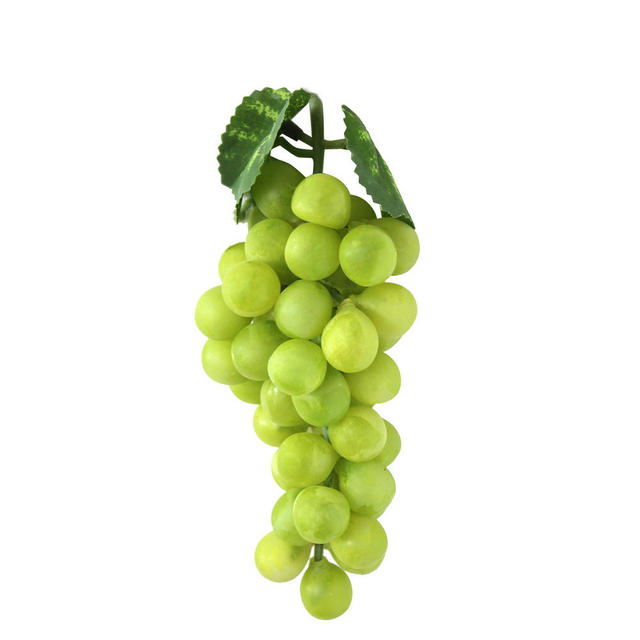 New Bunch Lifelike Green Artificial Grapes Plastic Fake Fruit Food Home  Decor