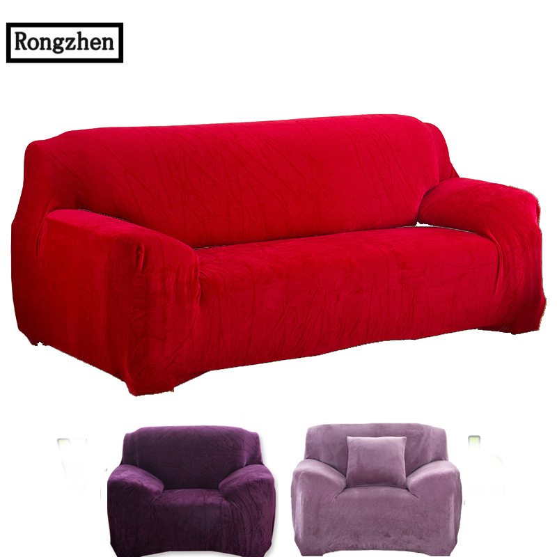 Sofa Cover Black Tight Stretch Towel Four Seat Universal Elastic L Shaped Sofa  Cover Fabric Housse