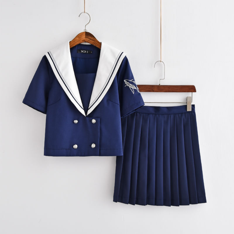 Japanese JK School Uniforms Harry Potter College Style Long Short Sleeves Sailor Suit Girls Novelty School Uniform Cosplay Sets
