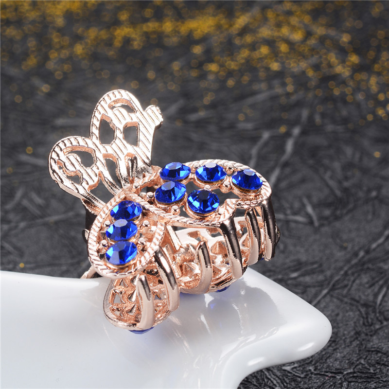 Brands Elegant Women Hair Ornaments Flowers Hair Claws Crystal Peacock Small Crab Clips Wedding Hair Jewelry Gifts for Girls NEW