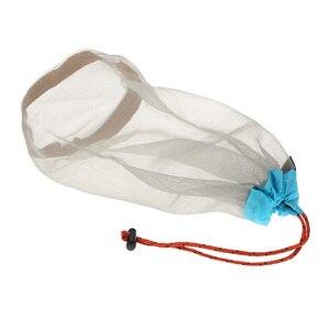 Image 3 - Ultraligero Red con cordones cosas saco bolsa de almacenamiento caso para auriculares Tavelling deportes de acampada grande/Medio/tamaño pequeño