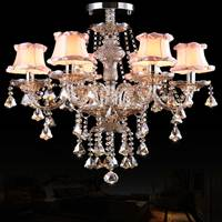 Crystal Ceiling chandelier Living Room Bedroom Modern Minimalist Art Lamp Creative crystal chandelier with lampshade