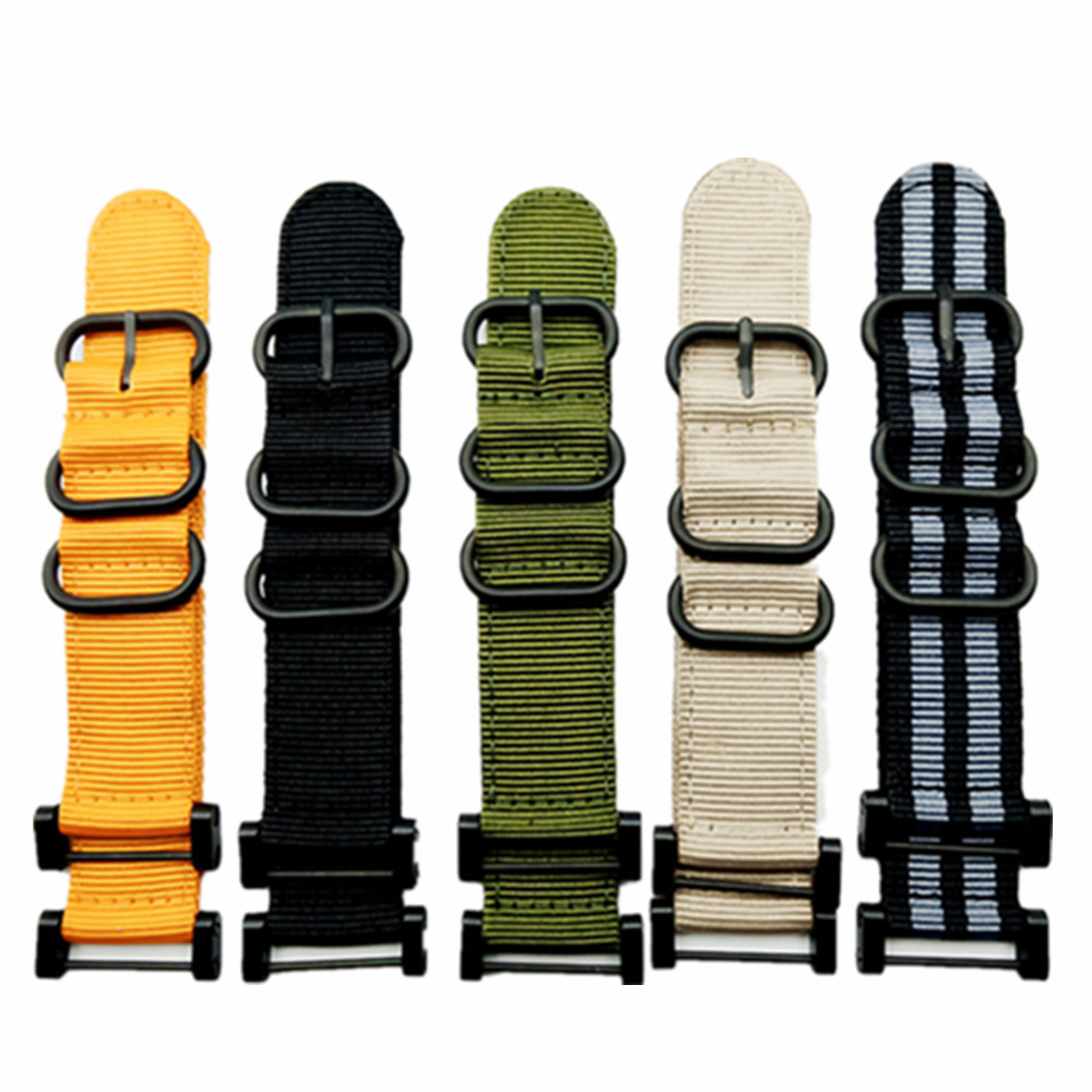 Watch Band Strap Nylon Zulu Watchband 24MM +1 set Adapters +Tools 5 Color Quick Drying For Suunto Core Series Traverse