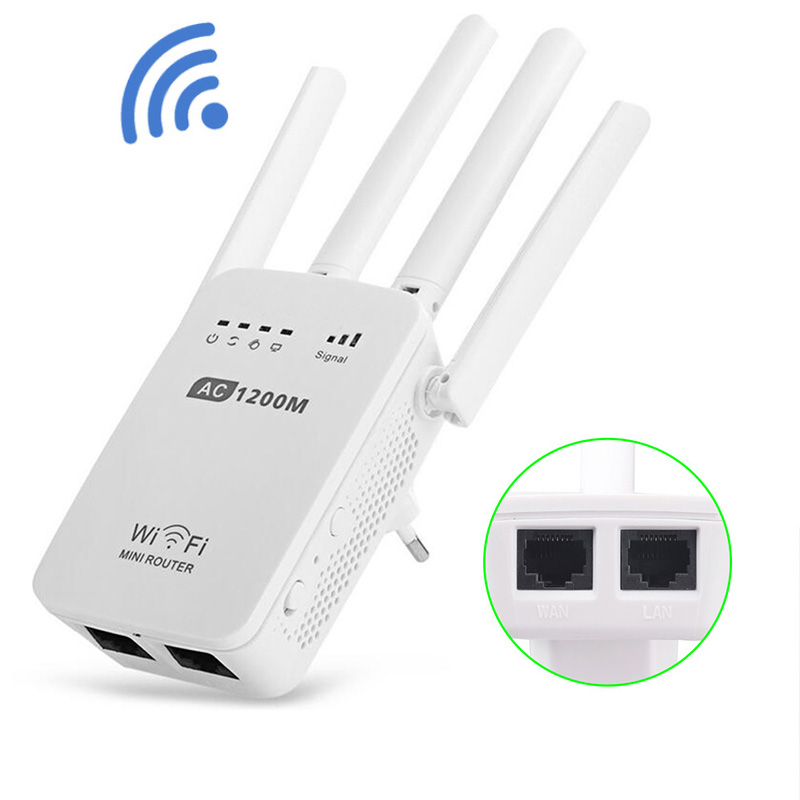 VONTS Wireless Wifi Router Wifi Repeater 750/1200Mbs Dual Band 2.4/5GHz Wi Fi Universal Repetition Signal Amplifier EU UK AUPlug xiaomi mi router pro r3p 2600mbps smart wireless wifi wi fi wi fi router 4 antenna dual band 2 4ghz 5 0ghz wifi network device