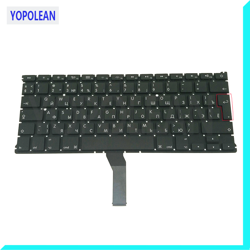 Brand New Big Enter RU Russian Keyboard For Macbook Air 13 A1369 2011 A1466 2012 2013 2014 2015 AP08 AC06