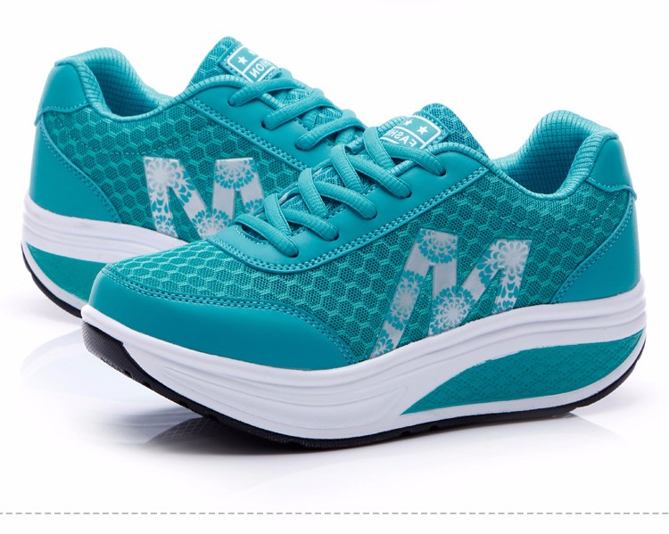 Slimming Shake shoes Women Fashion Breathable Mesh Casual Shoes Spring Summer Lace Up Women Swing Shoes Platform Trainers YD52 (26)