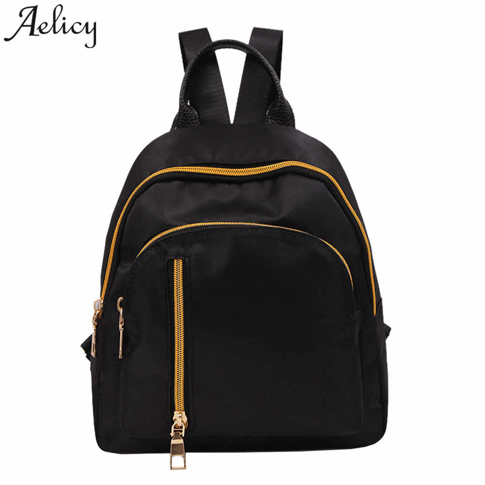8fa2f96a92b Aelicy Women backpack Oxford Cloth Backpack Student Satchel Travel Rucksack  Girl School Bag bags for women