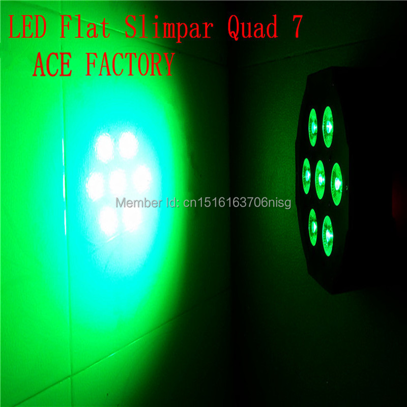 ФОТО Fast delivery high quality Super Bright LED Par RGB SlimPar Tri 7 LED Stage Wash Lighting for Wedding Concert Parties DJ Lamp