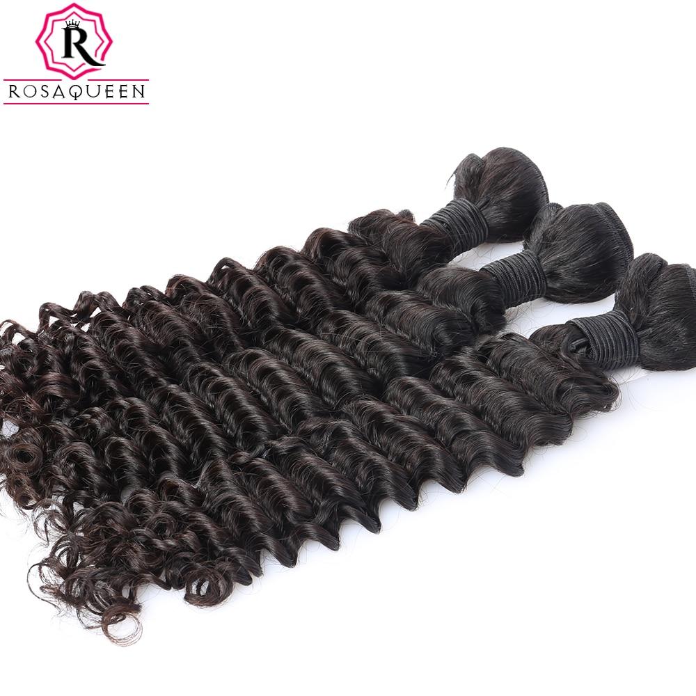 Globoko valovanje brazilskih lasnih las, 100% človeški lasje za - Človeški lasje (za črne) - Fotografija 3