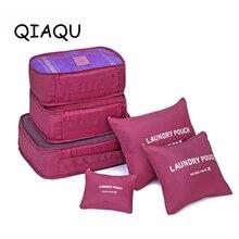 QIAQU 6PCS/Set High Quality Oxford Cloth Travel Mesh Bag