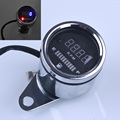 Universal Tachometer Motorcycle ATV RPM Digital Fuel Gauge Motorbike Instrument LED Indicator Display DC 12V Free Shipping