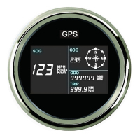 New 85mm Car GPS Speedometer MotorcycleTruck Boat Digital LCD Speed Gauge Knots Compass with GPS Antenna