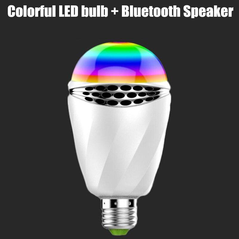 RGBW télécommande dimmable AC110v 220 v 230 v 240 v 6 W Smart APP Bluetooth haut-parleur LED ampoule lumière E27 sans fil musique LED ampoule