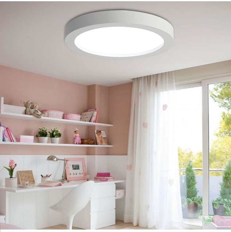 Modern Simple Led Acrylic ceiling lights, Round White/Black Color for living room bedroom home Light Fixture