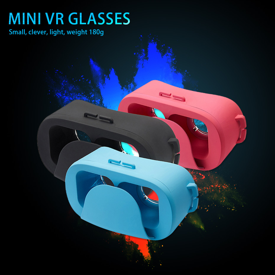 Mini VR Glasses 3D Virtual Reality Goggles Google Cardboard for Android IOS Smartphone 4.0 - 6.0 inches FOV 120 3D VR Box