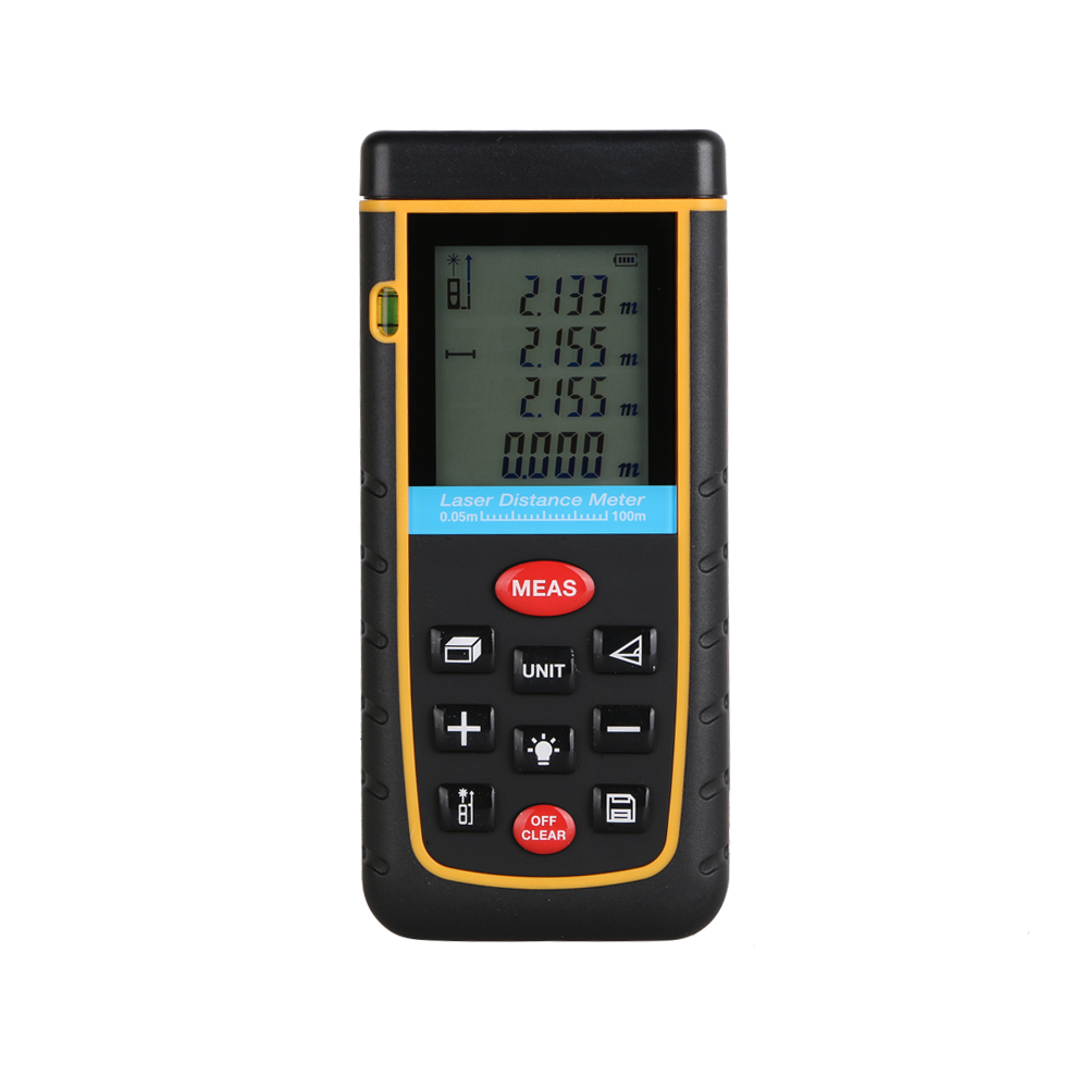 Digital Laser distance meter Bigger Bubble level tool Rangefinder Range finder Tape measure 100m Area/Volume Angle Tester free delivery level 24 in lightweight hard plastic 3 bubble triple ruler measure tool