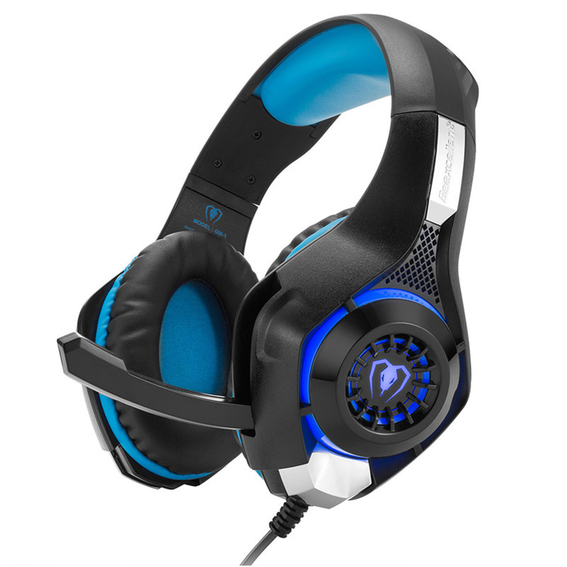 [Aaliyah] GM-1 Gaming Headphone With Mic LED Light Stereo Game Headset 3.5MM Wired USB Headband Headphones For PC/PS4 Gamers zealot bluetooth adapter splitter headphone amplifier compare headphone for cellphone helmet headset gaming unicorn headband