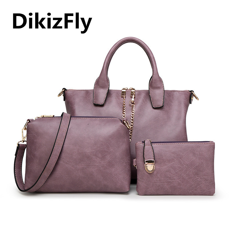 DikizFly! Fashion women totes Composite bag women messenger handbag high quality PU famous brand Shoulder bag Top-Handle Bags 2017 new fashion women handbag messenger shoulder bag famous brand pillow pattern pu leather crossbody top handle bag hot sale