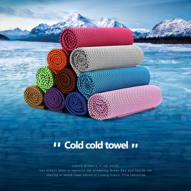 Cool Towel Ice Cold Enduring Running Jogging Gym Chilly Instant Cooling Outdoor Sports Towel Swimming Backpacking Towels Summer in Swimming Towels from Sports Entertainment