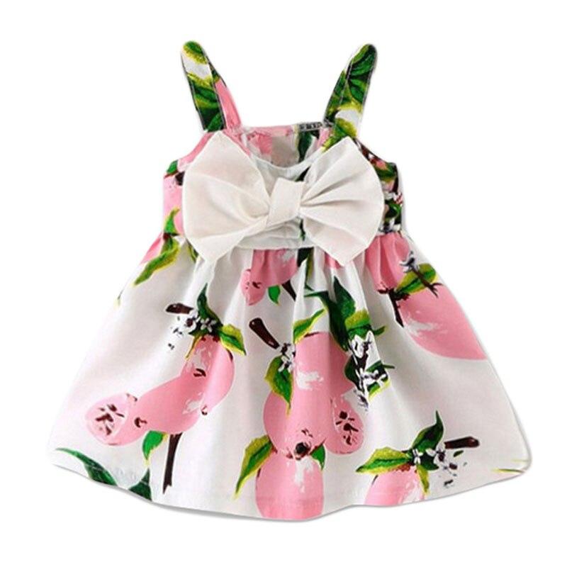 2018 New Baby Dress Infant girl dresses Lemon Print Baby Girls Clothes Slip Dress Princess Birthday Dress for Baby Girl