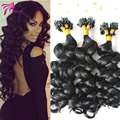 Micro Loop Ring Hair Extensions Loose Wave Micro Loop Human Hair extensions 1g/Strands Brazilian Virgin Human Hair Natural Color