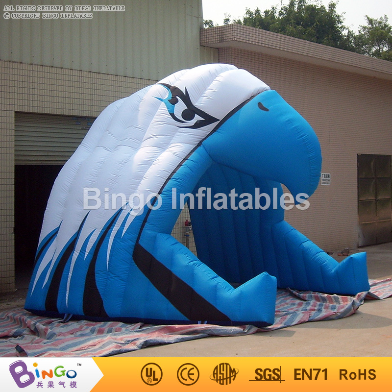 Blue Inflatable Football Tunnels Hawk Typed Inflatable Advertising Tents Inflatable Eagle Tunnel for Kids N Adult Football Games