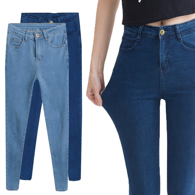 955544aca578 2018 Vintage Slim High Waisted Jeans Skinny Stretch Jeans For Women Fashion  Cotton Women's Sexy Elastic Black Jeans Pants-in Jeans from Women's Clothing  on ...