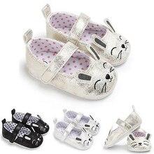 Новинка; детская обувь для малышей; детская обувь с животными из мультфильмов; удобная повседневная обувь из искусственной кожи с мягкой подошвой и нескользящей подошвой для маленьких девочек 0-18 месяцев