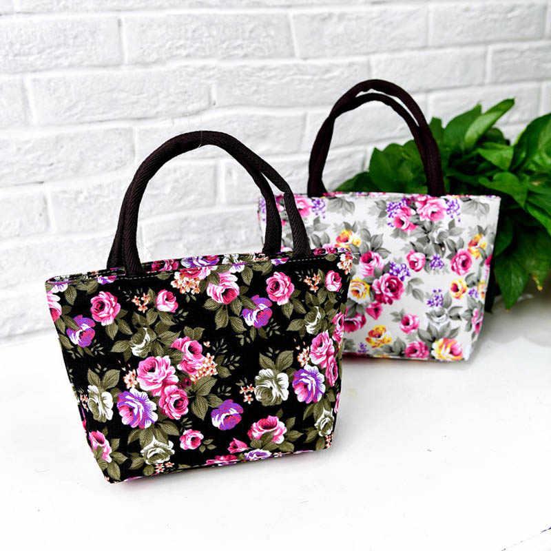 Bolso de mensajero Simple de moda para mujer, bolso de hombro con cremallera con estampado de flores de lona para chicas, bolso de hombro de gran capacidad para mujeres, los mejores S