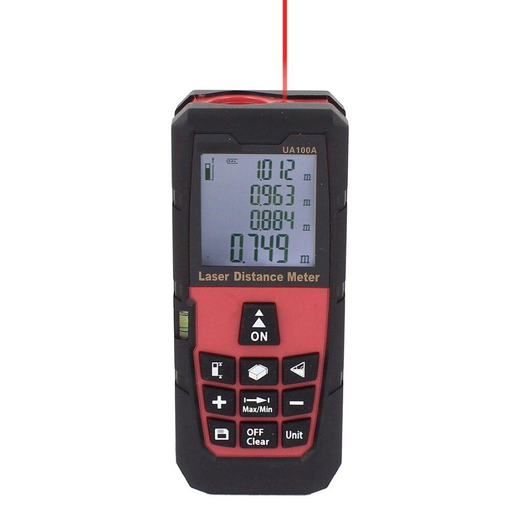 DMiotech UA100A Laser Measure Distance Meter 100M 328ft Rangefinder Digital Laser Tape Range Finder w Backlight xeast 100m 328ft digital laser distance meter lazer rangefinder range finder tape measurer ip54 with lcd backlight ll52
