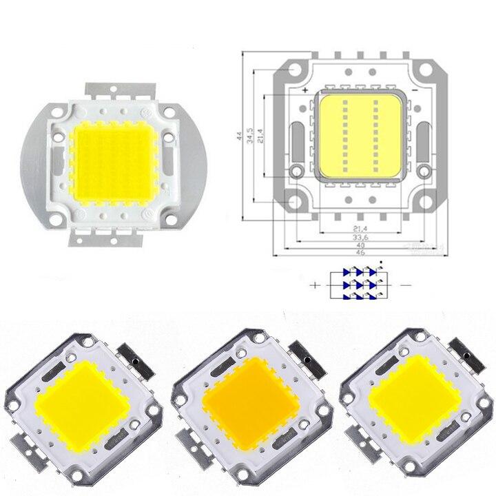 1 pcs 10w 20w 30w 50w 100W White LED CHIP light Lamp High Power SMD LED Chip Lamp Super Bright 30-34Vdc high quality 730nm 740nm ir led chip 10w 20w 30w 50w 100w led lamp epileds led chip for detecting sensor laser flashlight