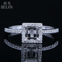 Hot Sell 4mm Cushion Cut Beauty Women S Fashion Jewelry Engagement Wedding Semi Mount Ring Solid