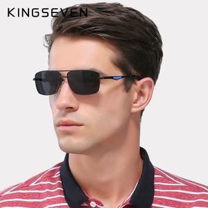 Image 2 - KINGSEVEN מותג עיצוב מקוטב משקפי שמש גברים גוונים זכר בציר משקפיים שמש לגברים Spuare מראה קיץ UV400 Oculos