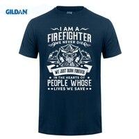 GILDAN 2018 여름 새로운 도착 남성 최고의 판매 T 셔츠 소방