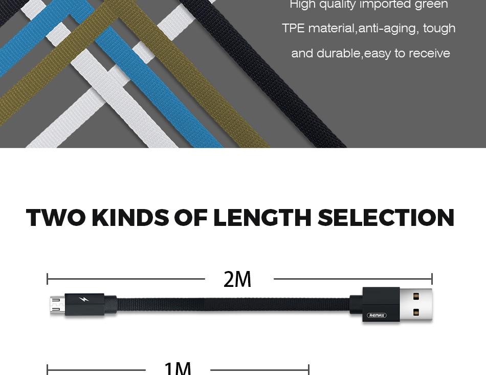 Remax RC-094i (2m) Kerolla Series Lightining Data Cable - Black