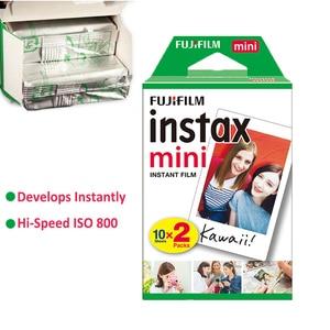 Image 3 - Authentique 100 feuilles Fujifilm Instax Mini film blanc pour Fuji 7s 8 9 11 caméra Photo instantanée SP2 SP1 imprimante LINK