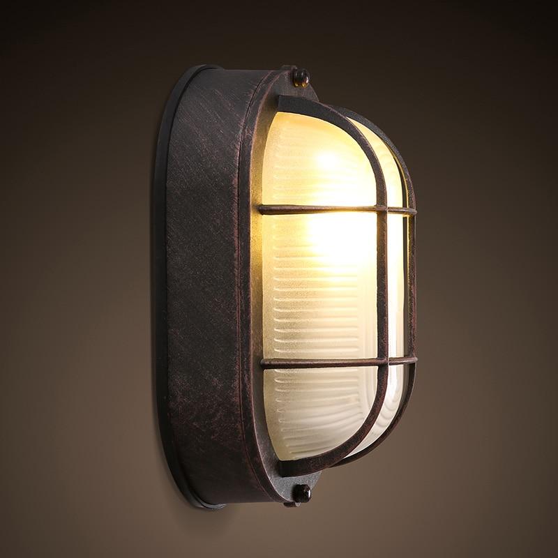 2018 Hot výprodej Abajur Výprodej Americká vesnice Balkon Vstupní ulička Stropní lampa Retro Jednoduché železné skleněné stínidlo Svítidla