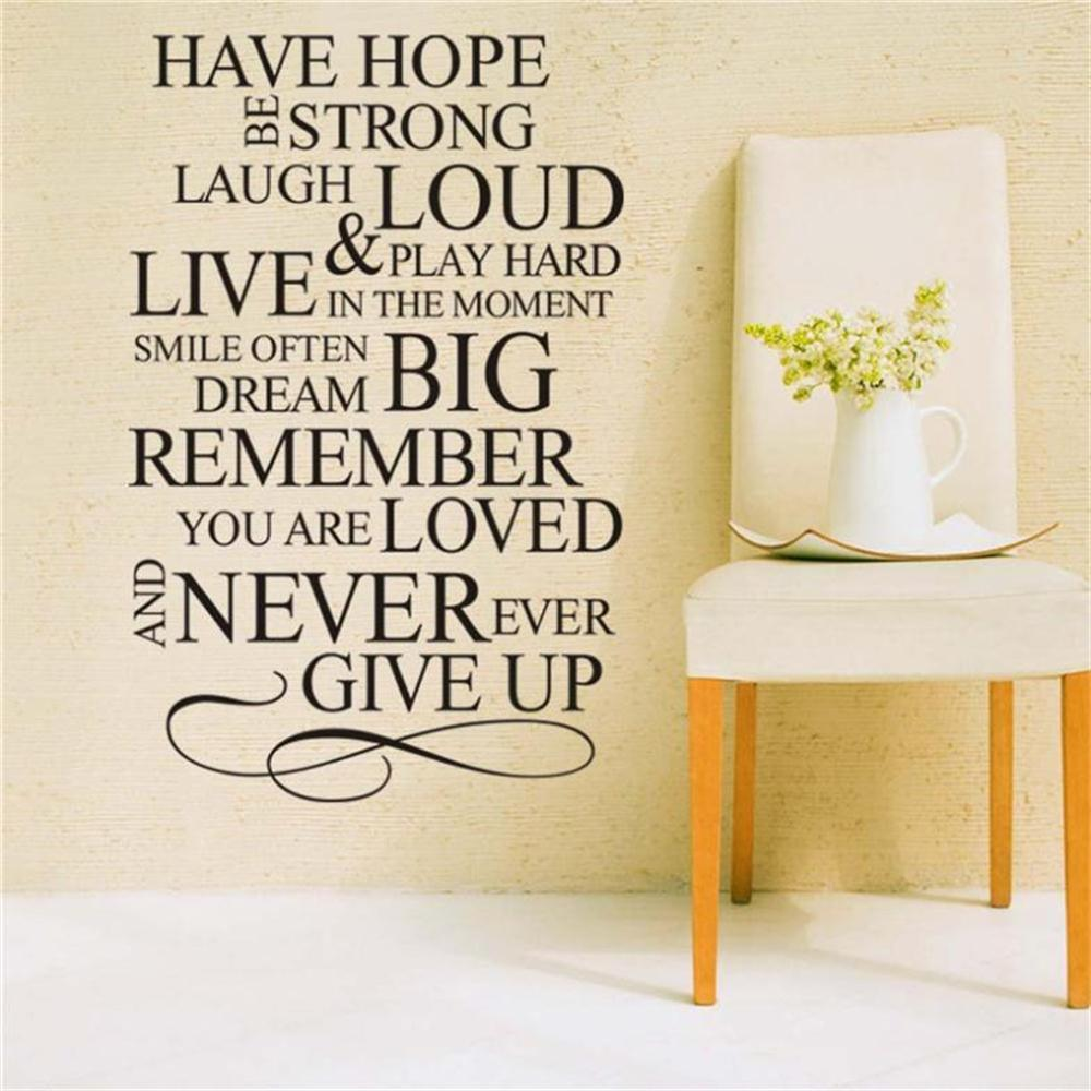 Large Wall stickers Have Hope Be Strong Family Rule Decal Art Vinyl ...