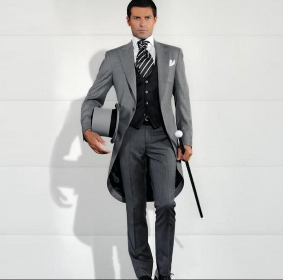 Custom Made Men Wedding Tailcoat Groom Tuxedo Fashion Best Man Business Man Suit