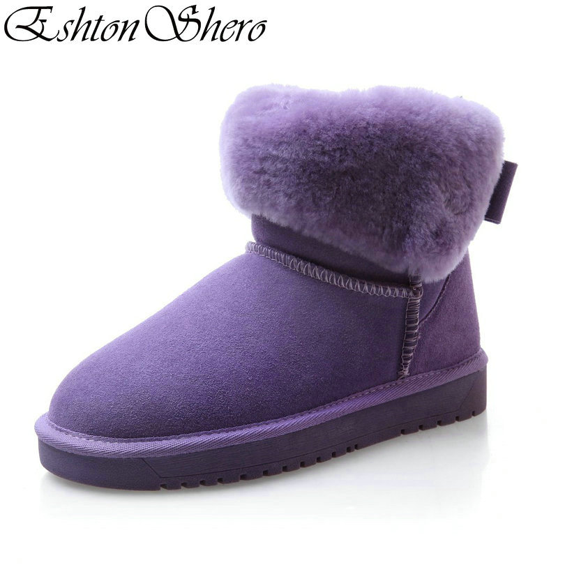 Faux púrpura Vaca Casual Mujeres Fur Invierno Gamuza Tamaño Mantener Felpa Negro Zapatos Caliente Nieve 35 Tacón Tobillo Bajo Ladies Eshtonshero Negro De 39 TBYxSqw6Z5