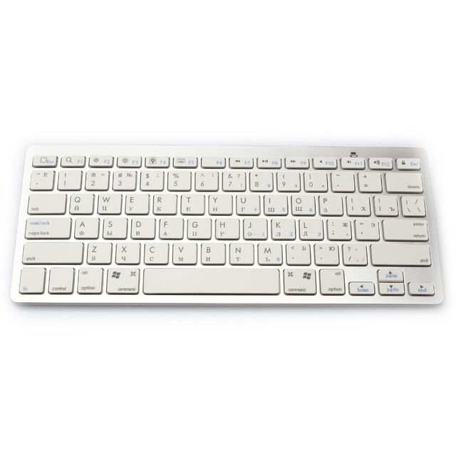 799c5c7c354 Portable Bluetooth 3.0 Wireless Russian Keyboard Layout For PC Computer  Laptop Tablet Smart Phone and For Macbook iPad