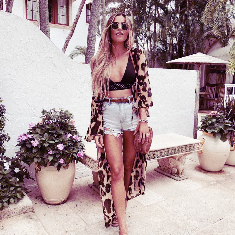 f1d8d0d2fcae1 summer swim dress long sleeve bathing suit cover up swimsuit sets with cover  leopard beachwear 2019 beach coverups for women's
